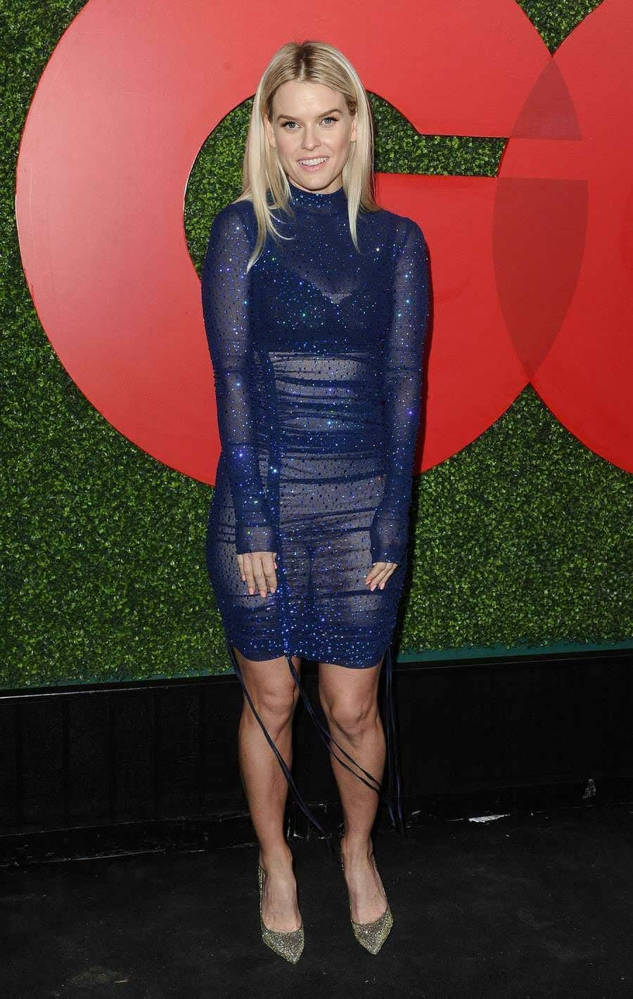 Alice Eve Pantiless Displays Her Pussy In See Through Dress