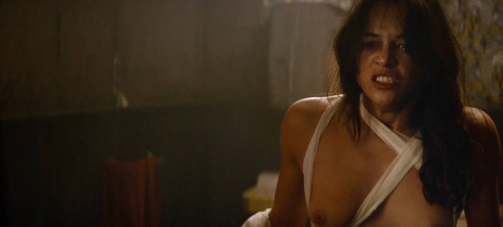 Michelle rodriguez boobs and hairy pussy exposed naked in the picture the assignment